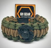 USMC - EGA Quad Braid Paracord Bracelet