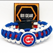 Chicago Cubs- Royal Blue/White/Red Stripe Paracord Bracelet