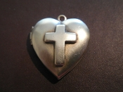 Locket - Cross Charm Double Photo