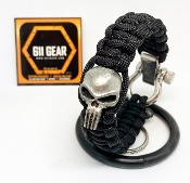 The Punisher Pewter Paracord Bracelet