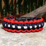 Multi Colored Single Braid Paracord Bracelet