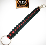 Thin Red Line Paracord Keychain