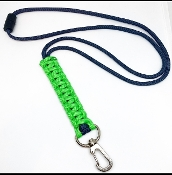 Cobra Braid Paracord Lanyard