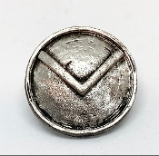 The Spartan Shield Pewter Bead