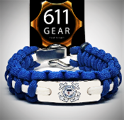 USCG- Emblem Royal blue w/white stripe Paracord Bracelet