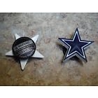 1 PAIR DALLAS COWBOYS JIBBITZ SHOE CHARMS for CROCS CLOGS NFL AM
