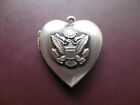 Locket -  US Army Eagle Charm LOCKET DOUBLE PHOTO